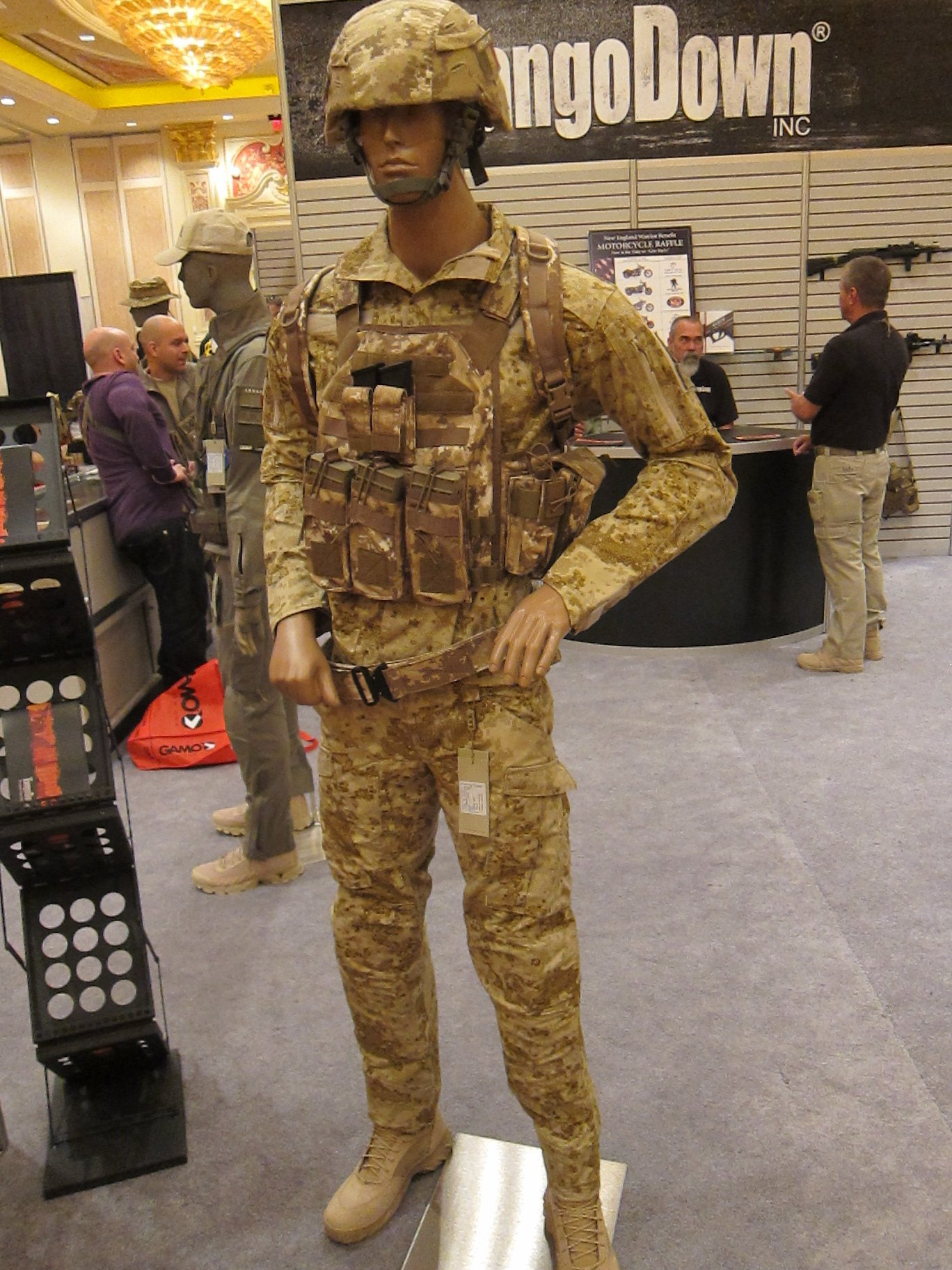 """SOD Gear Spectre Shirt/""""Battle Jacket"""" and Para-One Pants in Hyde Definition PenCott Multi-Environment Digital Combat Camo (Camouflage) Patterns at SHOT Show 2012: High-Tech Combat Clothing (BDU Type) for Military Special Operations Forces (SOF) and Civilian Tactical Shooting"""
