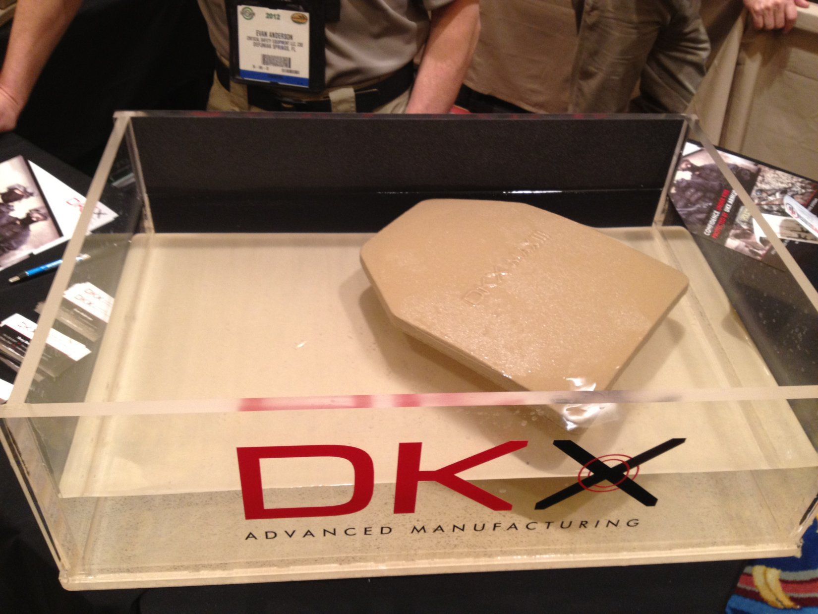 """DKX MAX III and Developmental MAX IV Lightweight, Multi-Hit/Drop-Resistant Dyneema """"Floaty Armor"""" (Floating Armor) Maritime Hard Armor Plates at SHOT Show 2012 (Video!)"""
