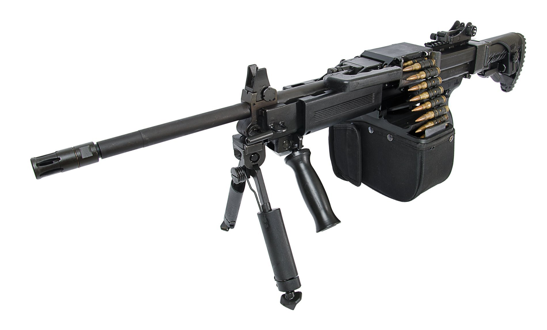 """Israel Weapon Industries IWI NEGEV NG7 LMG/LMG SF Belt-Fed 7.62mm NATO """"Light Machine Gun"""": Lightweight and Highly-Mobile Select-Fire 7.62x51mm Medium Machine Gun/General Purpose Machine Gun (MMG/GPMG) for Military Infantry Special Operations Forces (SOF) Missions in Urban Warfare Environments (Video!)"""