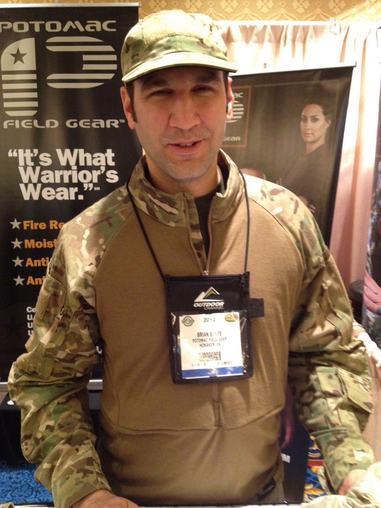 Potomac Field Gear (PFG) Advanced Combat Shirt (ADCS) Gen. II (MultiCam Camouflage): Flame-Retardant/Fire-Resistant (FR), Moisture-Wicking Battle Shirt/BDU with Passive-Cooling Protective Padding and X-Static Silver Fiber-Laced Advanced Protective Fabric (APF) at SHOT Show 2012 (Video!)