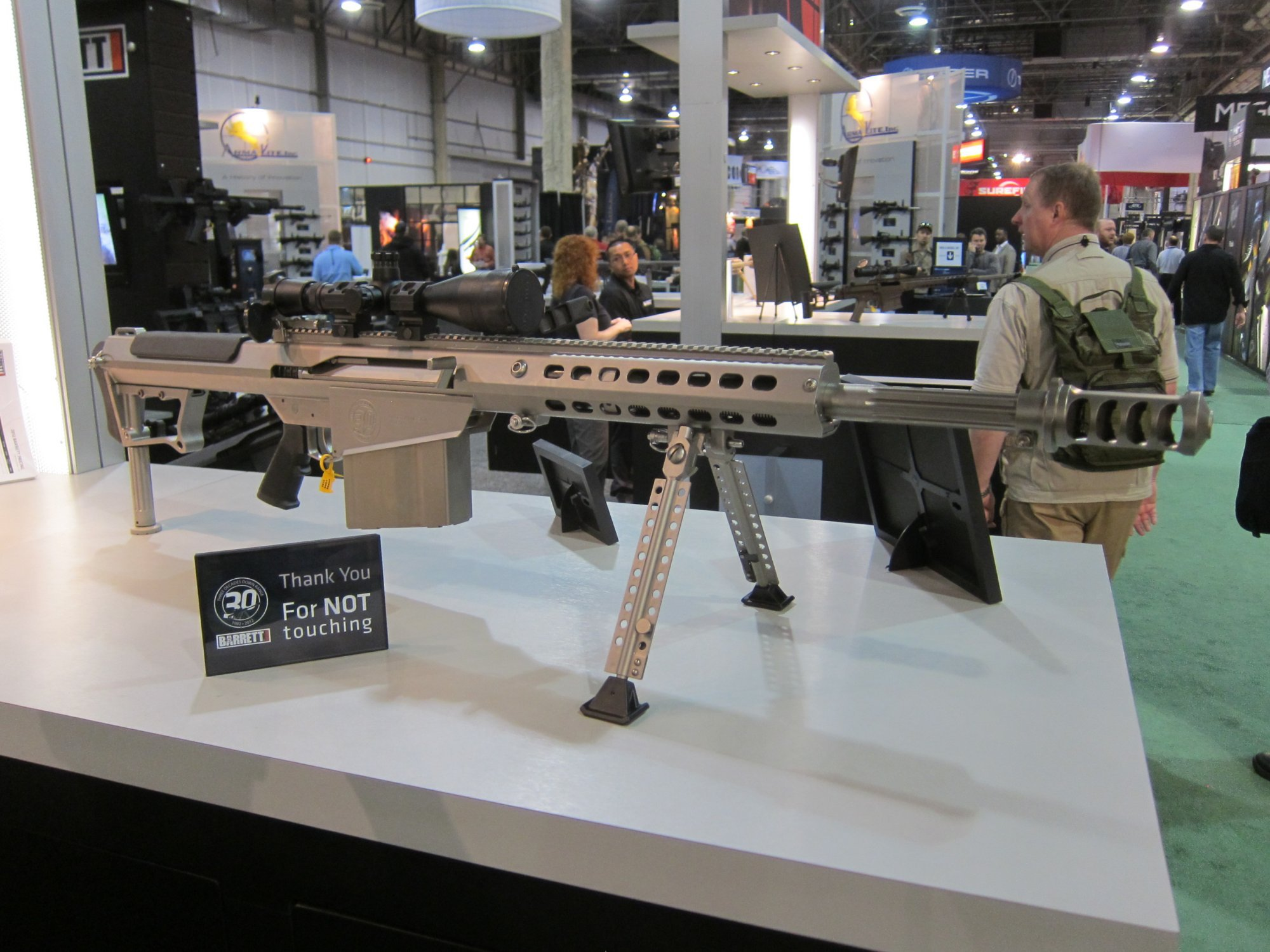 Barrett M107A1 30th-Anniversary Edition Semi-Auto .50 BMG Anti-Materiel Rifle with Robar NP3 Nickel-Teflon Coating Inside and Out! (Video!)