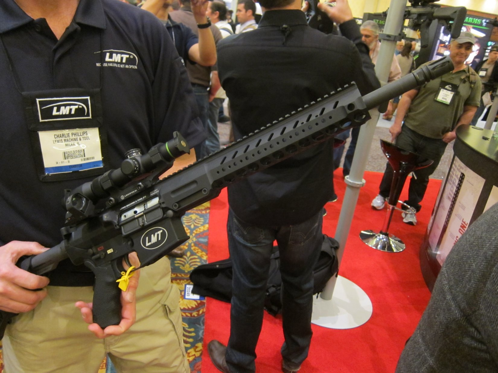 "Lewis Machine & Tool LMT LM8MWS (also written LM8 MWS) 16″ ""Slick Receiver"" Monolithic Rail Platform 7.62mm NATO/.308 Win. Tactical AR-10/SR-25-Type Battle Rifle/Carbine Upper Receiver(s) with Lightweight Modular Rail System"