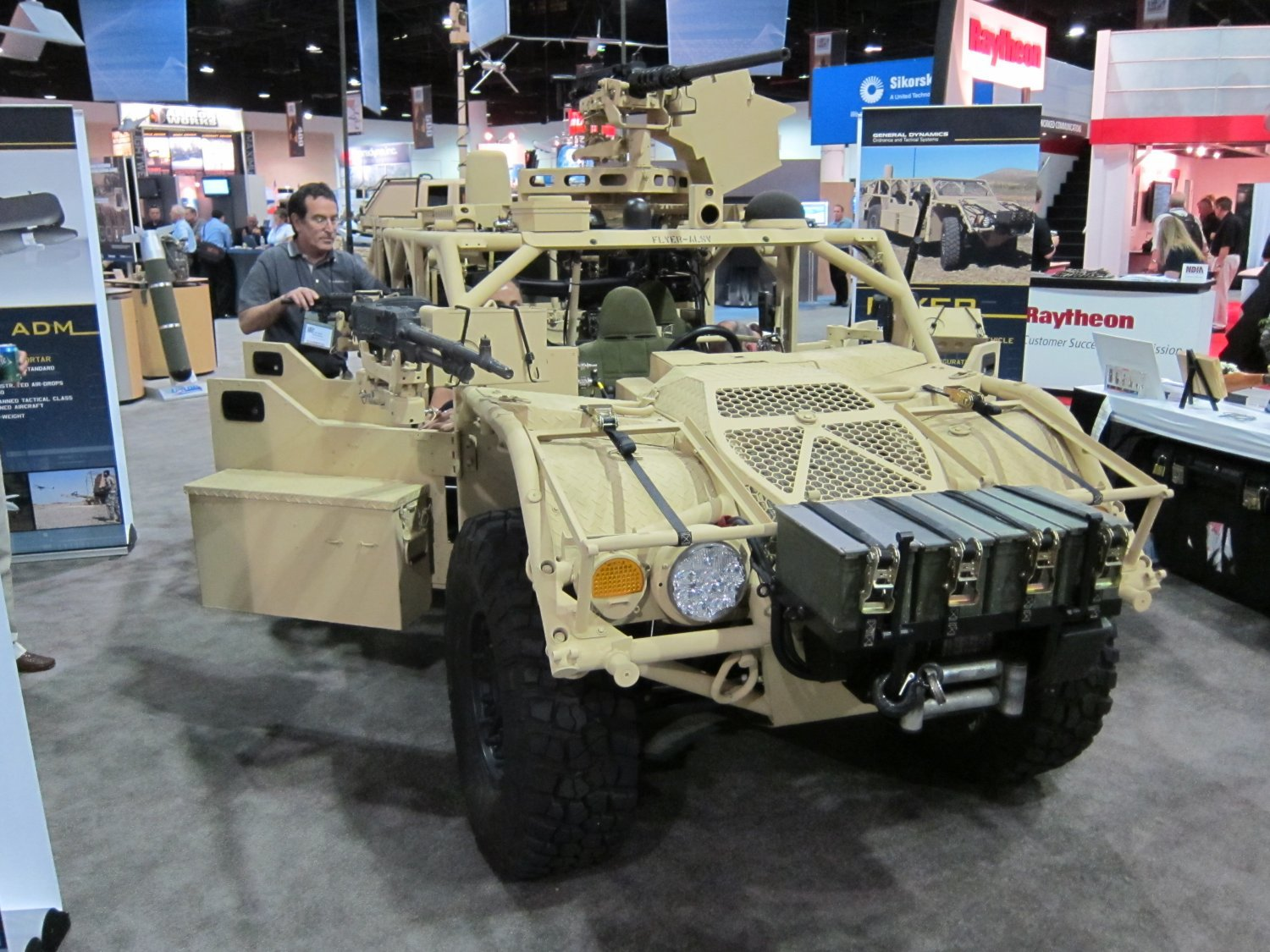 Flyer Defense/General Dynamics GDOTS Flyer Advanced Light Strike Vehicle (ALSV) All-Terrain Fast-Attack Vehicle with Optional Ceradyne Vehicle Armor Package: Modular Armored/Unarmored Tactical Vehicle/Combat Vehicle for Military Special Operations Forces (SOF) Missions