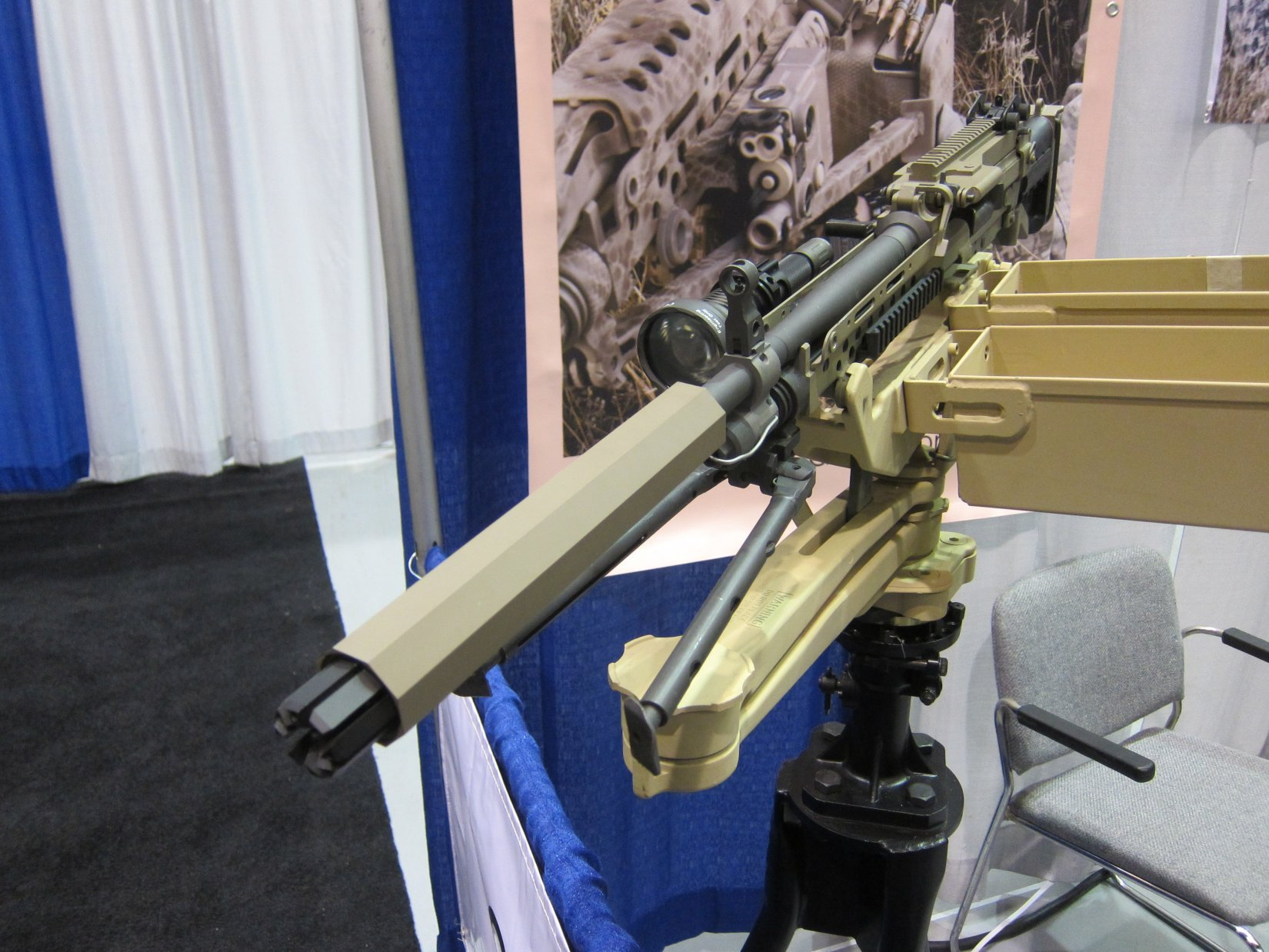 Bravo 18 Zero-Back-Pressure MG Suppressor (ZBPMGS): Full-Auto-Rated Octagonal Machine Gun Silencer/Sound Suppressors for Assault Rifles and Machine Guns: More Accuracy, Less Stress–and No Mirage!