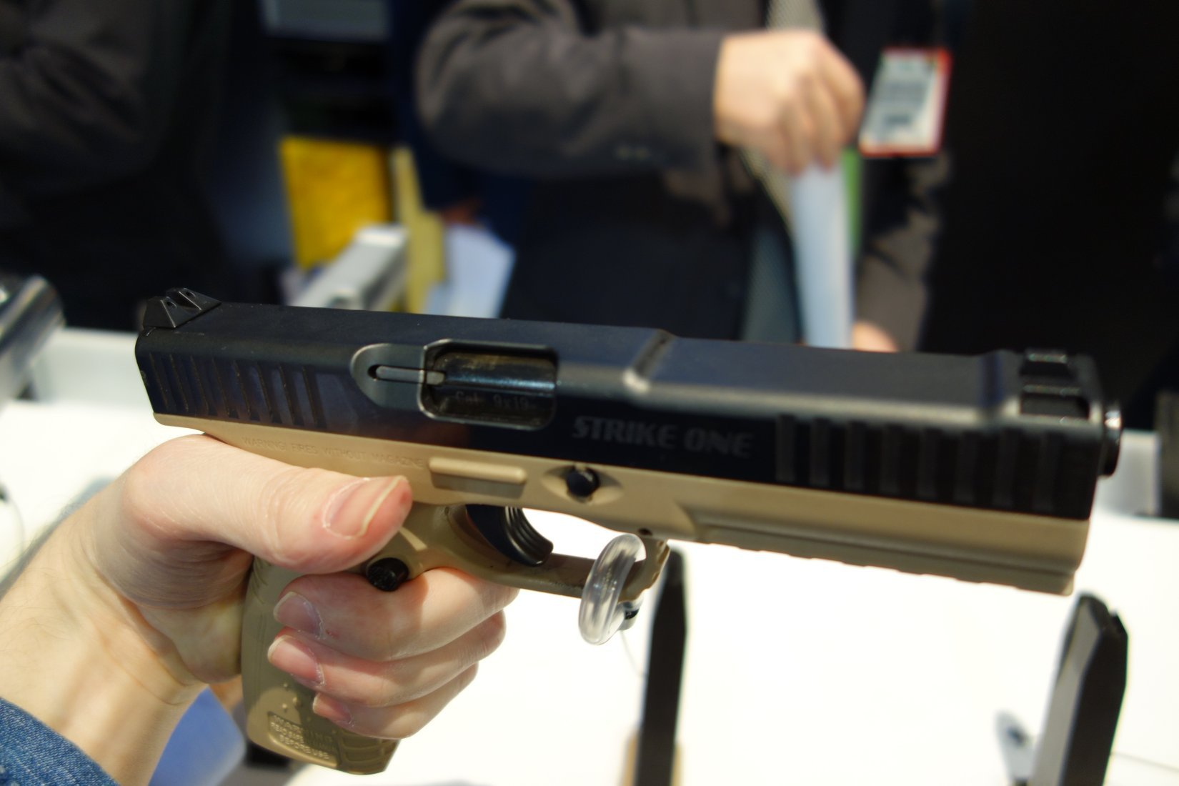 Arsenal Firearms Strike One Pistol System Internal Parts and Operating Mechanism Shown and Explained at SHOT Show 2013 (Video!)