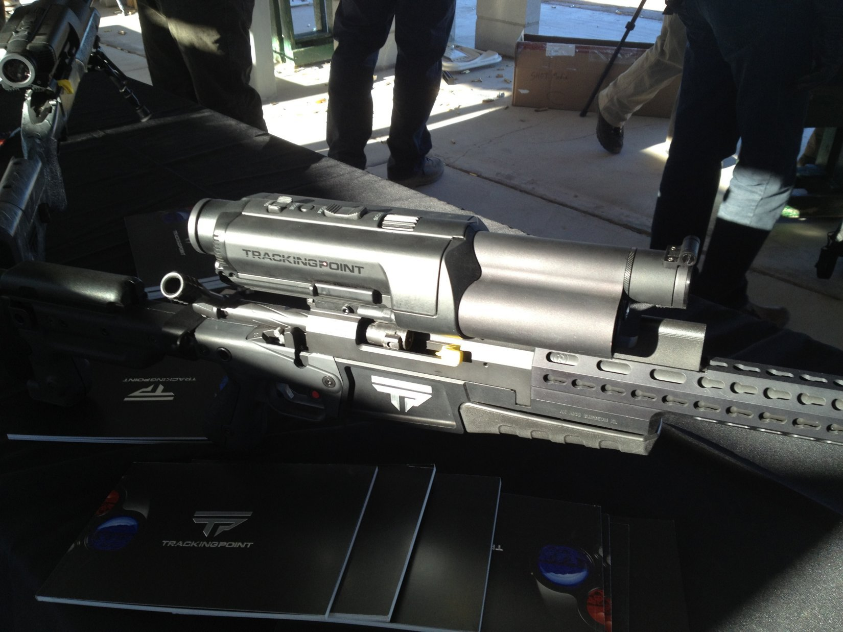 TrackingPoint XactSystem Precision Guided Firearm (PGF) Sniper Rifle Package with Integrated Networked Tracking Scope (Tactical Smart Scope): Heads-Up Display and Guided Trigger for Future Snipers (Video!)