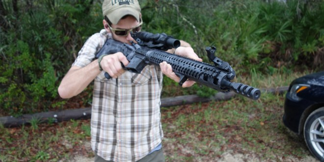 Adams Arms COR (Competition Optic Ready) 16.5″ Ultra Lite AR-15 Upper Receiver/Lightweight Tactical Gas Piston AR Carbine with HiperFire HiperTouch 24C Match Trigger and Diamondhead D-45 (Swing Sights) Integrated Sighting System Flip-Up BUIS for Tactical 3-Gun Competition Shooting (Video!)