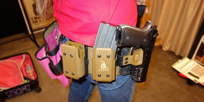 Latest-Gen Bad Company Tactical Rapid Retention System (BCT R2S) Combat/Tactical Weapons Holster/Mounting System and BCT Montesquieu Magazine Rack (MMR) Modular Rifle Mag Carrier/Pouch Rack for Combat/Tactical Pistols and AR-15 Carbine/SBR's (Video!)
