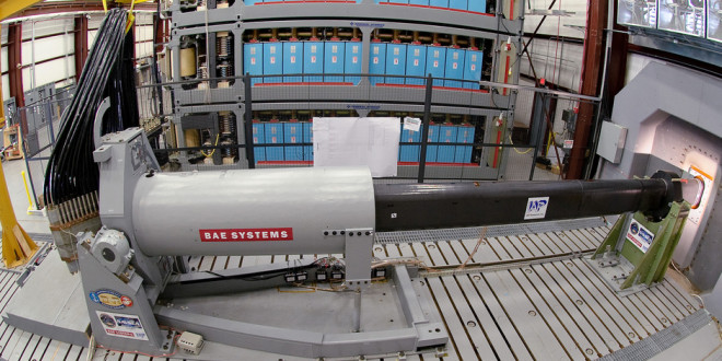 BAE Systems Electromagnetic Railgun (also written 'Rail Gun') for Obliterating Targets with Hyperspeed Kinetic Projectiles at Long Range without Using Gun Powder: Meet the 'Lorenz Force'