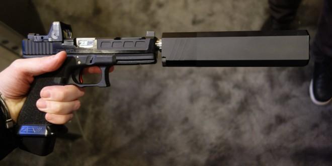 ZEV Technologies Custom GlockWORX Glock 17 (G17) 9mm Pistol with Trijicon RMR Dual-Illumination Mini-Red Dot Sight/Reflex Sight and Silencerco Osprey 9 Pistol Silencer/Sound Suppressor (Video!)
