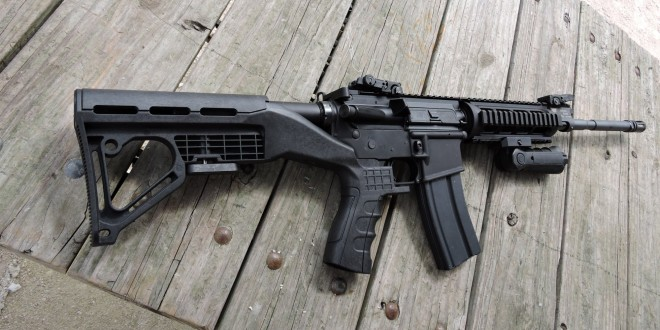 Bump Fire Systems (BFS) Bump Fire Stock: Full-Auto-Fire Effect for Semi-Auto-Only Tactical AR-15 and Kalashnikov Rifle/Carbine/SBR's! (Video!)