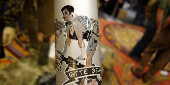 Otte Gear Aluminum Bottles by Liberty Bottleworks: WWII-Style Pin-Up Girls with Tactical Small Arms/Firearms and Light Weapons (Video!)