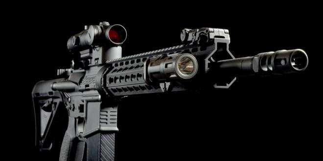 Strike Industries SI G2 AR Mega Fins Two-Piece Drop-In Heptagonal Free-Float KeyMod Modular Tactical Handguard/Rail System for Tactical AR-15 Carbine/SBR's