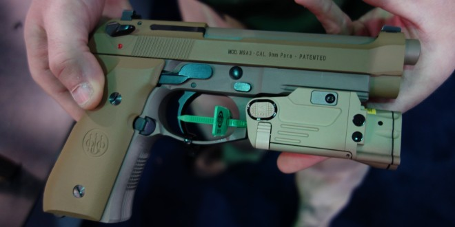 Beretta M9A3 High-Capacity 9mm Combat/Tactical Pistol with 17-Round Sand-Resistant Magazine and Steiner eOptics SBAL-PL Lightweight, Compact Green Aiming Laser (Laser Sight)/Tactical White Light/Illuminator (Videos!)