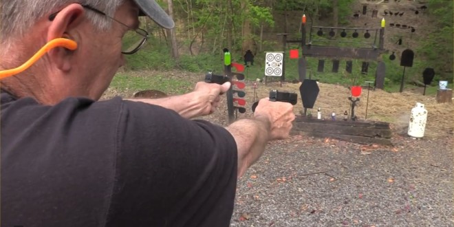 Glock 43 Single-Stack 9mm Pistol Gets Range-Tested by hickok45: Watch Some Steel Get Pounded! (Video!)