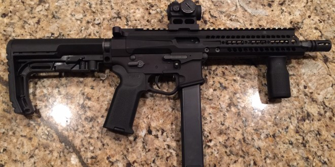 POF-USA PSG 9mm Tactical AR-15-Type Semi-Auto-Only Pistol/Select-Fire Submachine Gun (SMG)/Machine Pistol at NRA 2015!