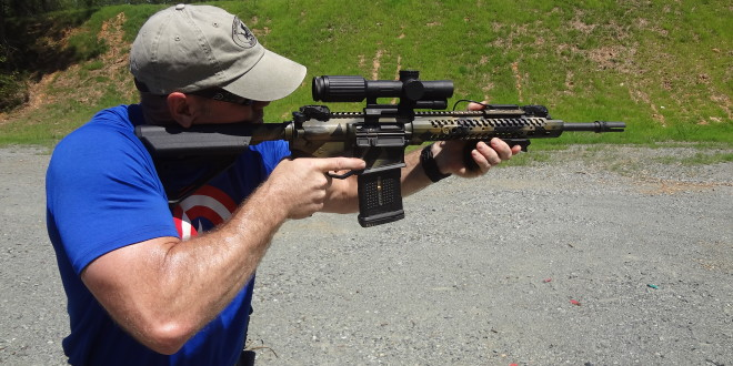 Adams Arms AA Small-Frame .308 Patrol Battle Rifle (PBR) 7.62mm NATO/.308 Win. Tactical Piston AR Carbine: Jeff Gurwitch Shoots Super-Fast 2-2-2 Drill (Tactical Shooting Drill) Using Gun Outfitted with Trijicon VCOG and IMI Defense 7.62mm NATO AR Mag (Magazine) and Accessories! (Video!)