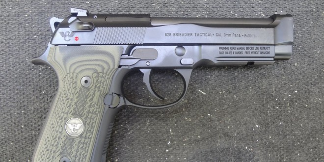 Beretta/Wilson Combat 92G Brigadier Tactical  9mm Semi-Auto Pistol with Decocker (Decocking Lever Only, No Manual Safety): Customized for Combat! (Video!)