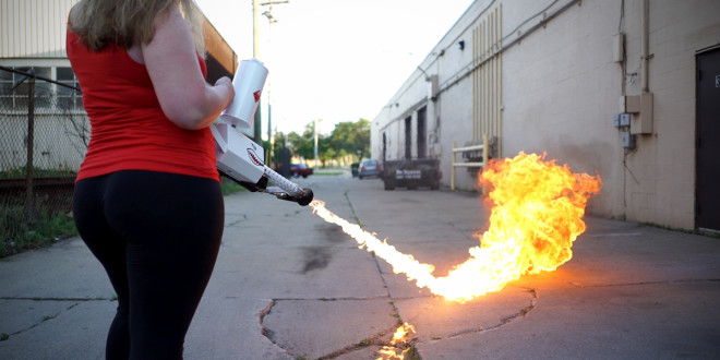 XM42 Handheld Flamethrower: Industrial Art with Flame Firepower! This ain't your Daddy's Flamethrower.
