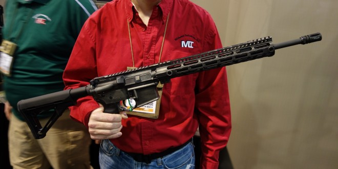 Midwest Industries MI 16-Inch Mid-Length Rifle M-LOK Compatible Tactical AR-15 Carbine with MI SSM Free-Float M-LOK Tactical Handguard and Distressed/Patinated Finish!