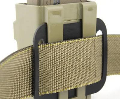 Limitless Gear Gun Belt Adapter System for OPFOR MC-R Rigid Polymer Fast-Attach/Quick-Detach and Retention 5.56mm AR Rifle Mag (Magazine) Carrier/Pouch