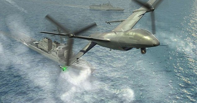 DARPA/Northrop Grumman 'Tail-Sitter' UAS/UAV/Drone Aircraft for Airborne Recon (Reconnaissance) and other Missions: Can it be Gun/Laser-Weaponized for Combat? Why not?