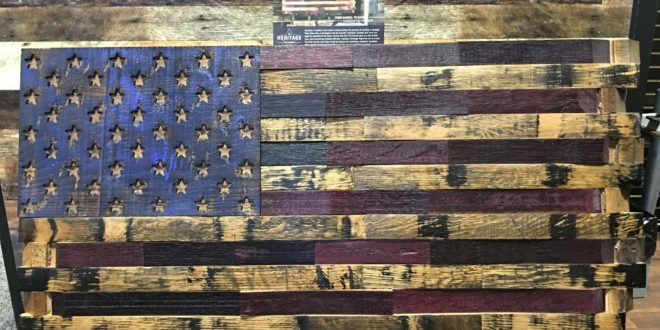 The Heritage Flag Company Bourbon Whiskey Barrel Wood American Flags!: American Exceptionalism for your Wall