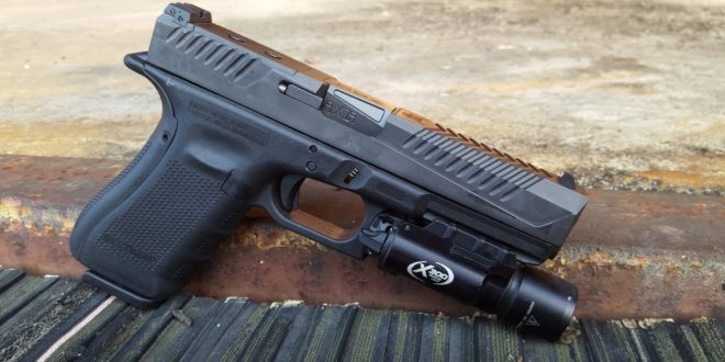 Jeff Gurwitch Runs the VooDoo Innovations VDI Enforcer Glock 17 (G17) Slide and Barrel and Grip Force Adapter for Glock Combat/Tactical and Competition Pistols! (Video!)