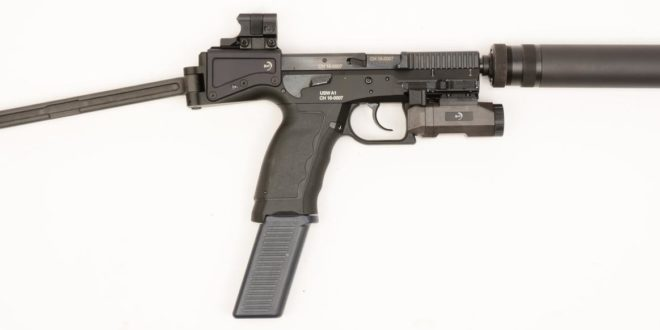 Brugger and Thomet B&T USW-A1 (Universal Service Weapon) 9mm Parabellum/9x19mm NATO Pistol-Type Semi-Auto PDW (Personal Defense Weapon) with Aimpoint Nano Mini Red Dot Sight Combat Optic and Side-Folding Stock!