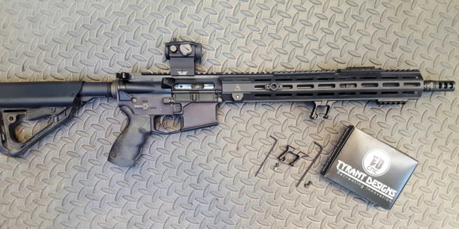 Tyrant Designs Halo AR-15 Series Handstop (also written, Hand Stop) for Better Control in a Skeletonized, Streamlined and Minimalist Profile!